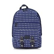 Designer blue star print backpack