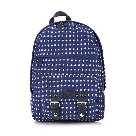 H! by Henry Holland - Designer blue star print backpack