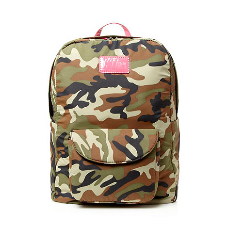 H! by Henry Holland - Designer green camo print backpack