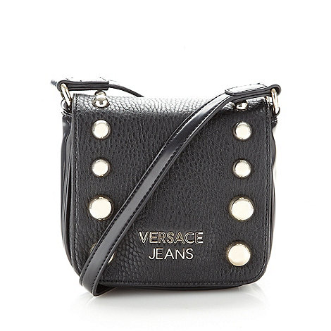 Versace Jeans - Black studded mini cross body bag