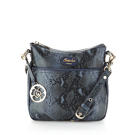 Sacha - Navy snake cross body bag