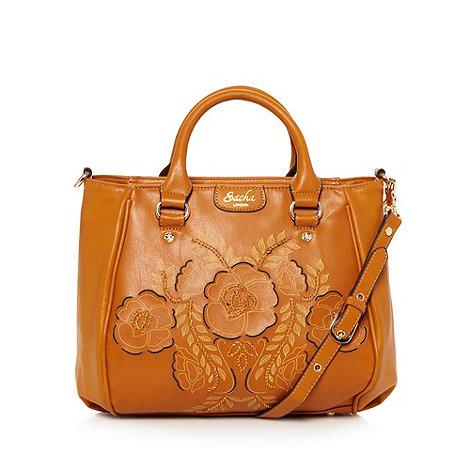 Sacha - Tan cutout flower tote bag
