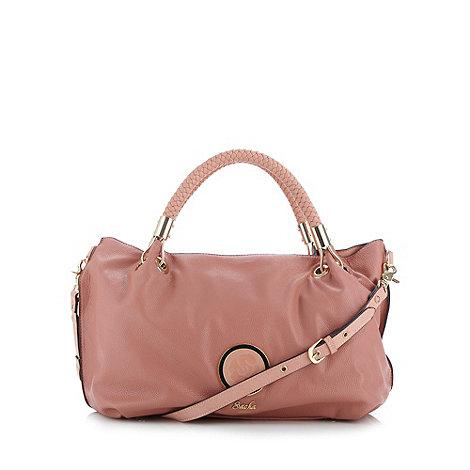 Sacha - Pink plaited handle grab bag