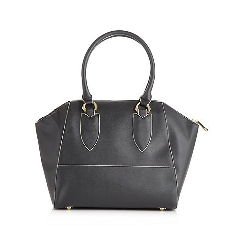 Faith - Grey crosshatched faux leather tote bag