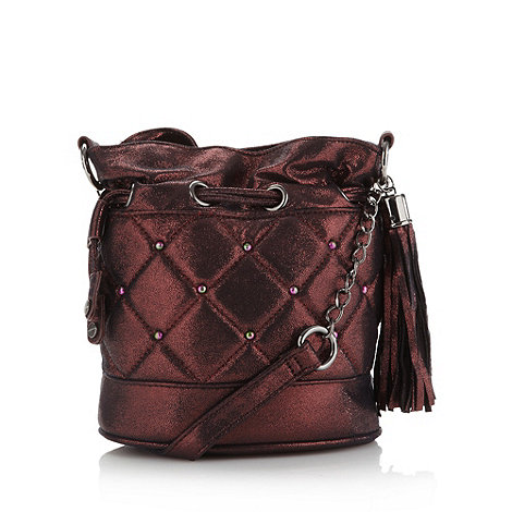 H! by Henry Holland - Designer wine quilted stud duffle bag