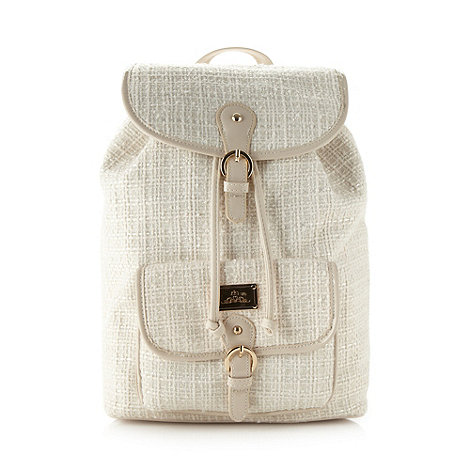 Red Herring - Cream metallic backpack