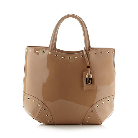 Faith - Nude patent tote bag