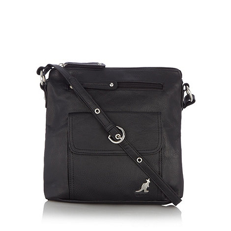 Kangol - Black metallic logo cross body bag