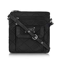 Kangol - Black quilted cross body bag