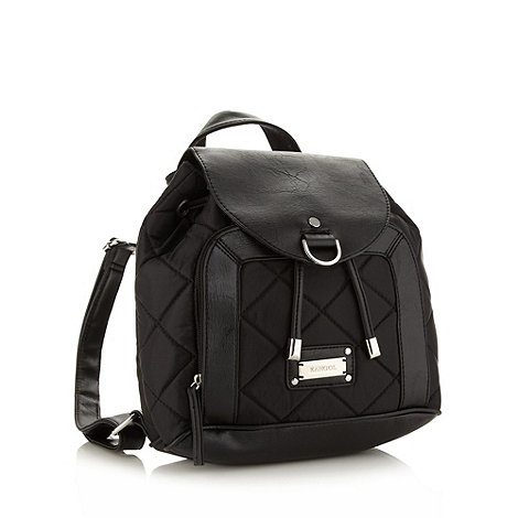 Kangol - Black quilted backpack