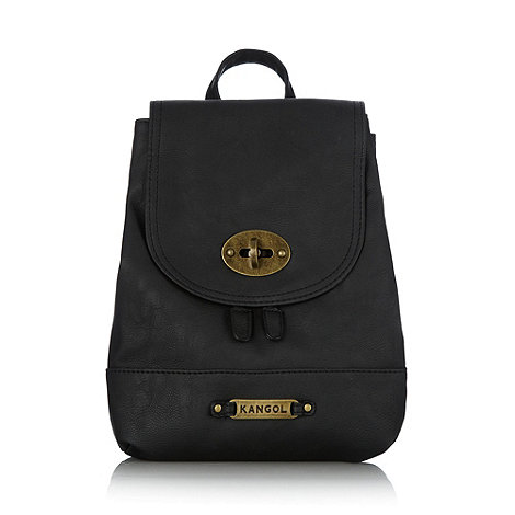 Kangol - Black twist lock backpack
