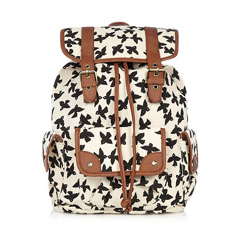 Call It Spring - White +Elmhall+ bird printed backpack