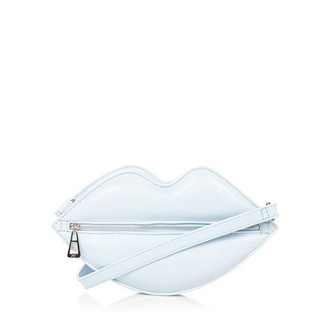 H! by Henry Holland - Designer pale blue lips cross body bag