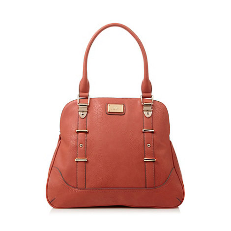 Red Herring - Coral metal tab trim shoulder bag