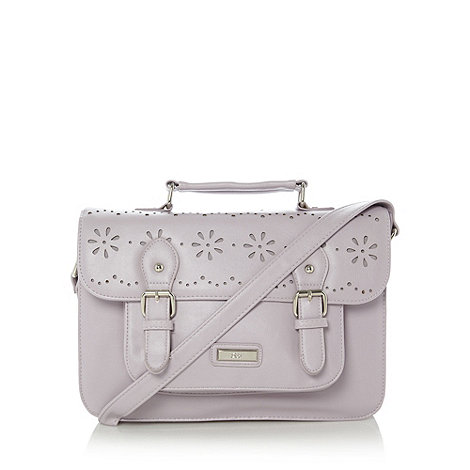 Red Herring - Lilac cut out satchel bag