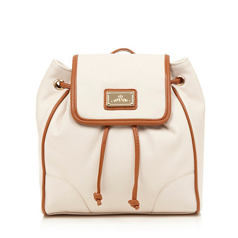 Red Herring - Natural contrast trim backpack