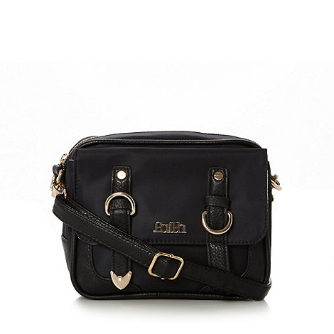 Faith - Black nylon mini cross body bag
