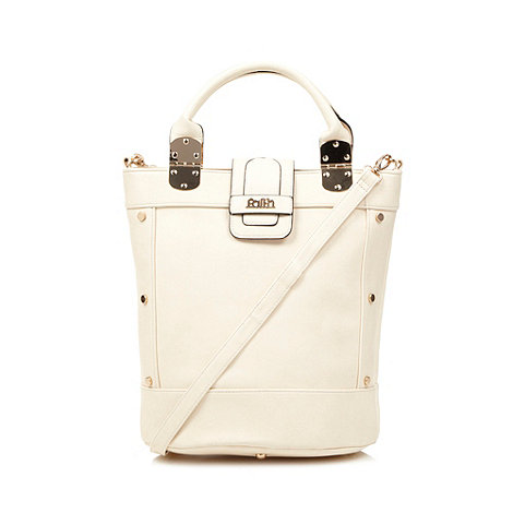 Faith - Cream large bucket tote bag