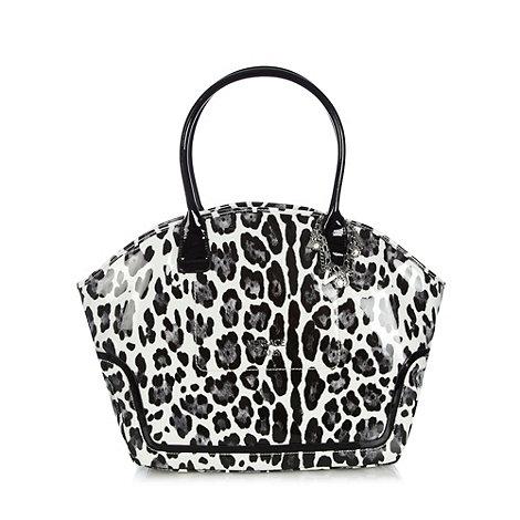 Versace Jeans - Black animal winged tote bag