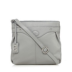 The Collection - Grey leather cross body bag