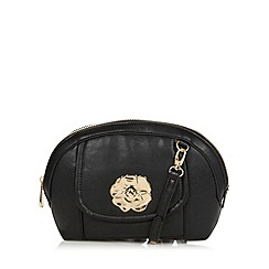 Sacha - Black twist lock small cross body bag