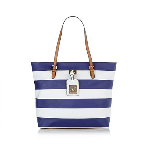 Kangol - Navy nautical striped tote bag