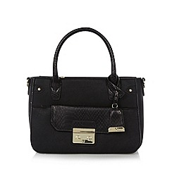 J by Jasper Conran - Designer black push lock grab bag