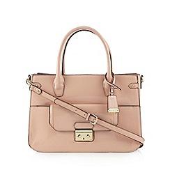 J by Jasper Conran - Designer pale pink patent tote bag