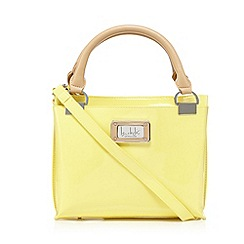 The Collection - Designer yellow patent three part grab bag