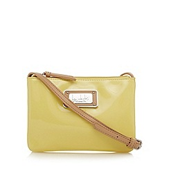 Principles by Ben de Lisi - Designer yellow patent mini cross body bag