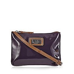 Principles by Ben de Lisi - Purple patent cross body bag