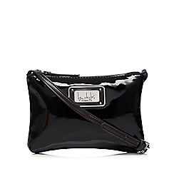 Principles by Ben de Lisi - Designer black patent cross body bag