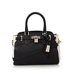 J by Jasper Conran - Designer black belted padlock mini tote bag