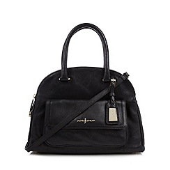 J by Jasper Conran - Designer black leather three part dome bag