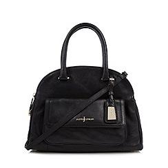 J by Jasper Conran - Designer black leather three part dome bag
