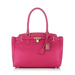 J by Jasper Conran - Designer bright pink leather belted tote bag