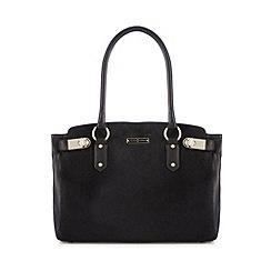 J by Jasper Conran - Designer black leather faux pony hair grab bag