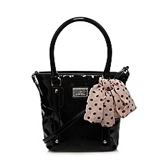 Red Herring - Black patent mini bucket bag