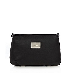 Red Herring - Black zipped pouch cross body bag