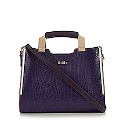 Faith - Purple croc effect tote bag