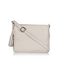 The Collection - Light pink leather tassel cross body bag