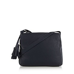 The Collection - Navy double tassel cross body bag