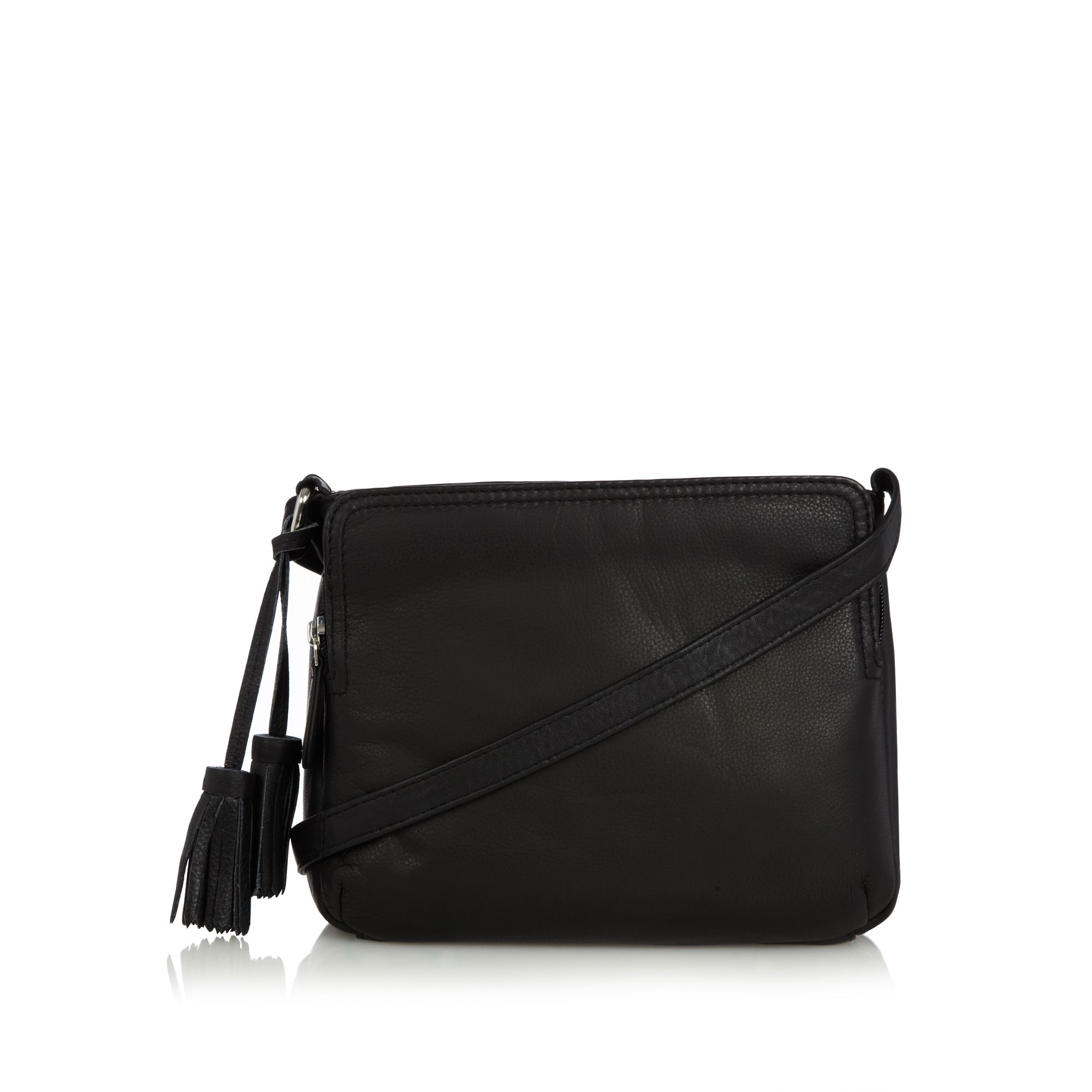 The Collection Black Leather Organiser Cross Body Bag From Debenhams