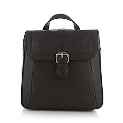 The Collection - Black buckle detail backpack