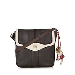 Bailey & Quinn - Black 'Peony' leather colour block cross body bag