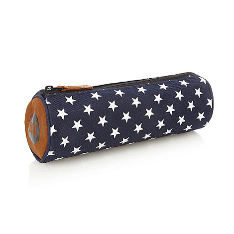 Mi-Pac - Navy star print pencil case