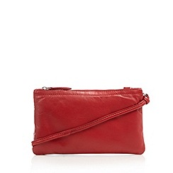 The Collection - Red leather cross body bag