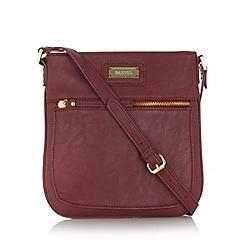 Kangol - Dark red zip pocket cross body bag