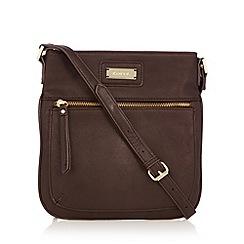 Kangol - Chocolate zip pocket cross body bag