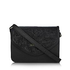Kangol - Black textured flap over cross body bag